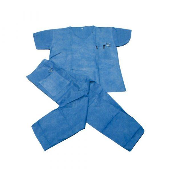 Divisa Casacca + Pantaloni in TNT SMMS 35 g Blu -  Non/Sterile Conf. 5 pz