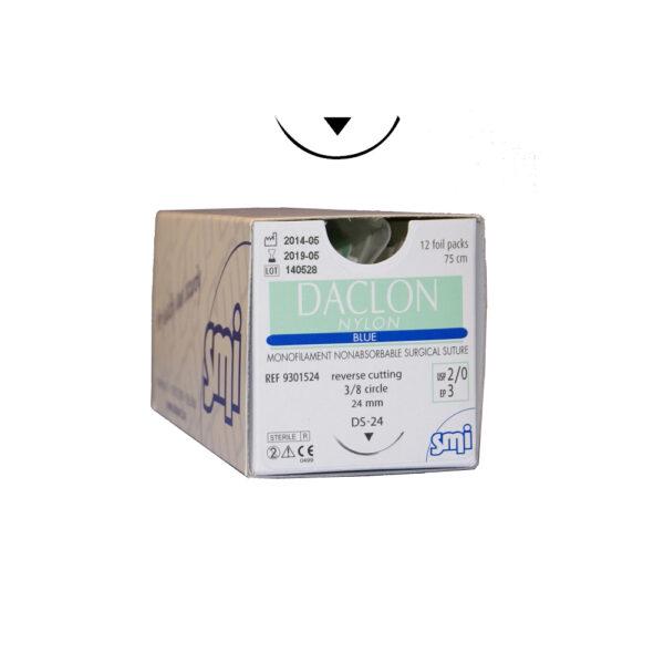 Daclon Nylon - Blu 75 cm - 3/8c Tagliente Esterno - 12 pz
