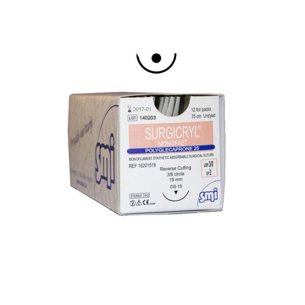 Surgicryl® Monofast - Ago 1/2c Cilindrico - 12 pz