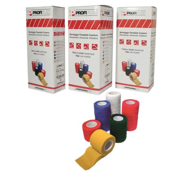 Bende Flessibili Coesive Profiflex 4.5 m - Conf. 10 pz