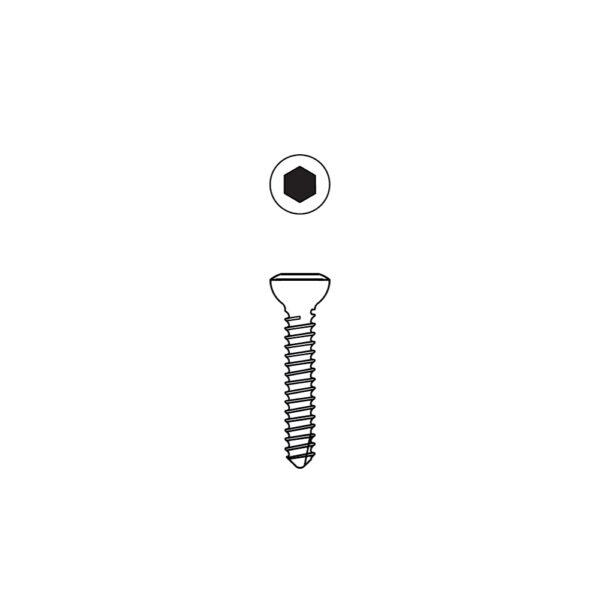 Vite Corticale Testa Esagonale da 1.5 mm Autofilettante