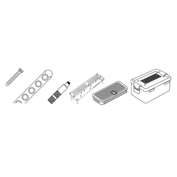 Kit Viti Bloccate e Placche da 2.4 mm
