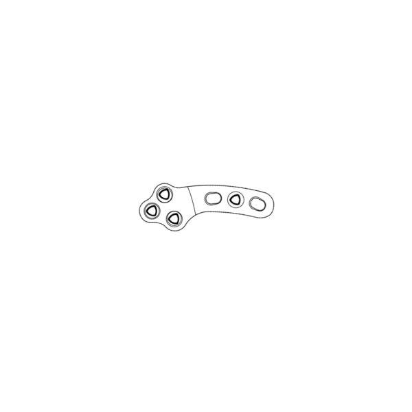 Placca Bloccata Evolox TPLO 2.4 mm - Versione 2 - 37.5 mm
