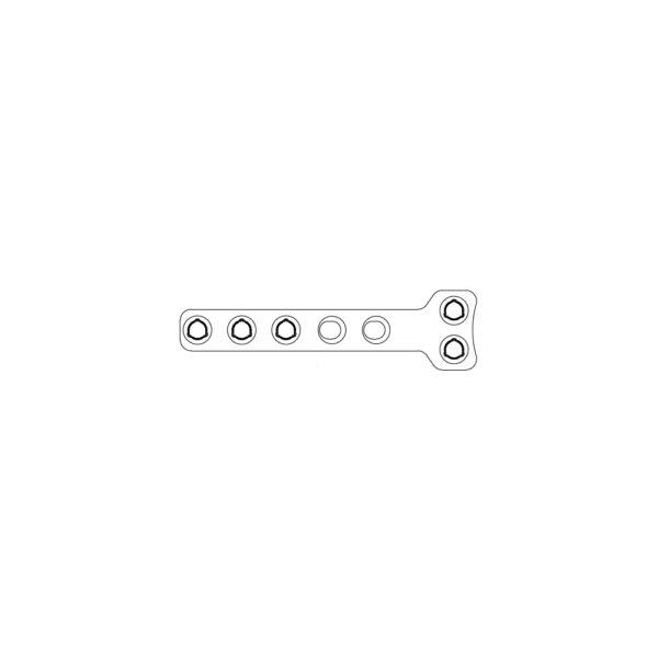 Placca Evolox Hybrid a T - 2.4 mm