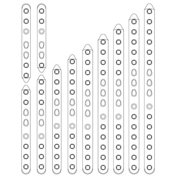 Placca per Osteosintesi Evolox PCL 3.5 mm