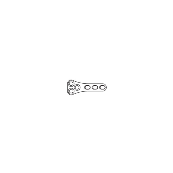 Placca TPLO DCP 2.0 mm 6 Fori Lungh. 26 mm