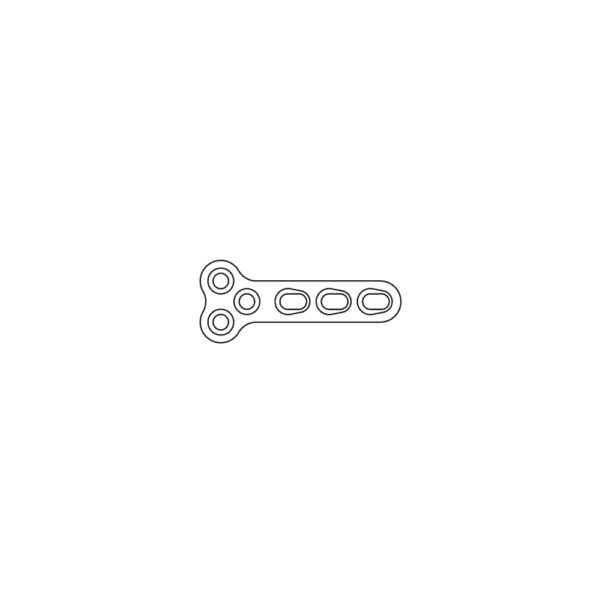 Placca TPLO DCP 2.7 mm 6 Fori Lungh. 39 mm