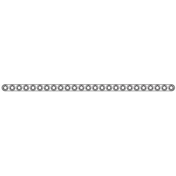 Placca Evolox Tagliabile 2.4 mm 25 Fori - Lungh. 150 mm
