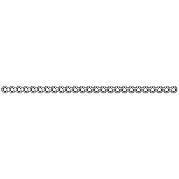 Placca Evolox Tagliabile e Modellabile 2.4 mm 25 Fori - Lungh. 150 mm