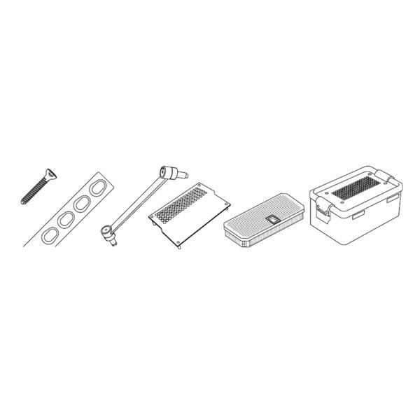 Kit Viti Corticali Testa Esagonale e Placche da 2.0 mm