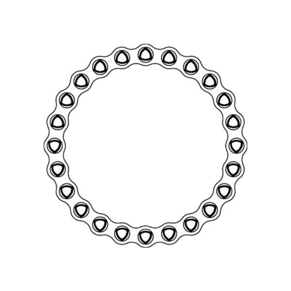 Placca Bloccata Tagliabile Circolare da 2.7 mm 24 Fori Ø 82 mm
