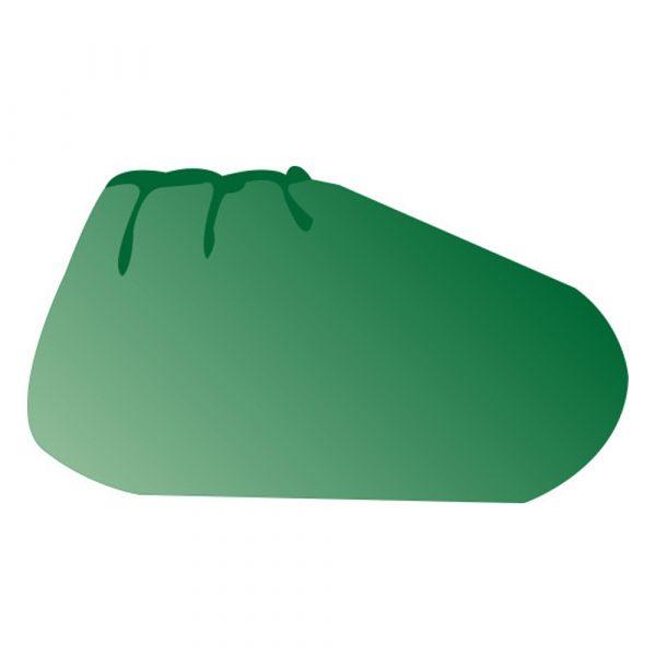 Copriscarpe con elastico alla caviglia in TNT SPUNDBOND verde 100 pz