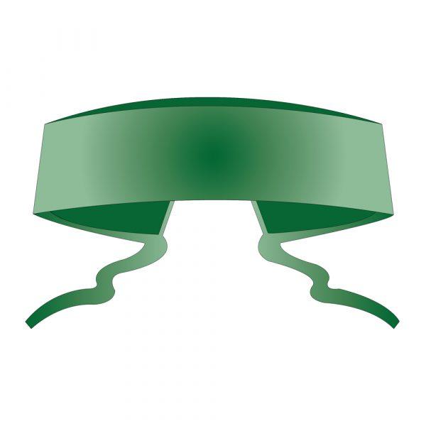 Cappellino con Lacci Fissi in TNT SPUNDBOND Verde 100 pz
