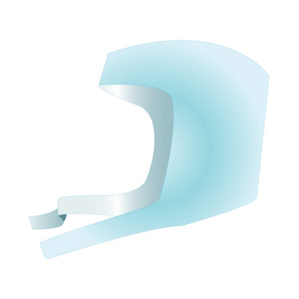 Cappellino per Ortopedia con Lacci Sottogola in TNT CHICOPE Traforato Azzurro 100 pz