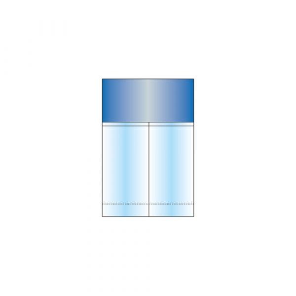 Tasca Porta Strumenti 30 x 23 cm a 2 Scomparti con Doppio Adesivo in PE Opacizzato - Sterile