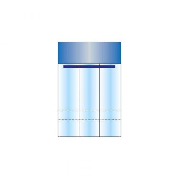 Tasca Porta Strumenti 30 x 50 cm a 3 Scomparti con Doppio Adesivo in PE Opacizzato - Sterile