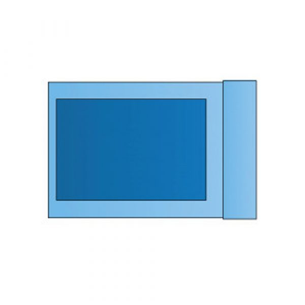 Federa di Mayo Standard 80x145 cm in PE Tubolare Fascia Centrale 60 cm in TNT Assorbente - Sterile