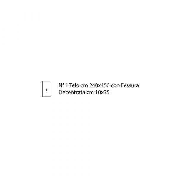 Telo Chirurgia Laparatomia Equina 49  TNT Biaccoppiato Azzurro Sterile