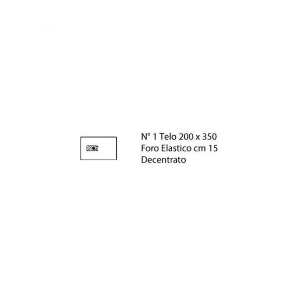 Telo Ortopedia Artroscopia Equina 200x350 cm con Foro ELastico 15 cm in TNT Biaccoppiato Azzuro Sterile