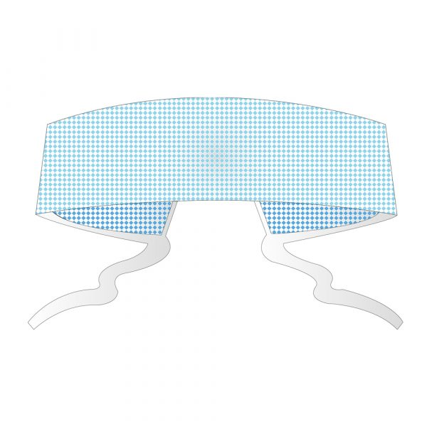 Cappellino con Lacci Fissi in TNT CHICOPE Traforato Azzurro 100 pz