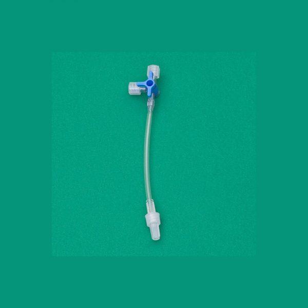 Rubinetto a 3 vie per bassa pressione con Prolunga in PVC da cm 10