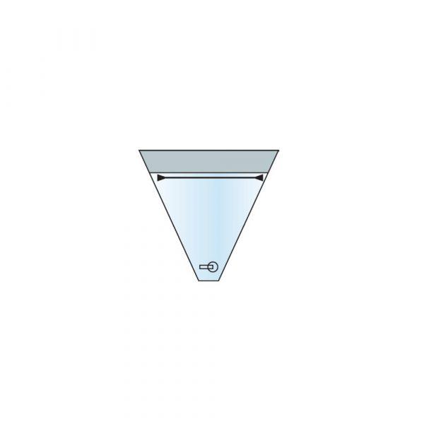 Sacca Raccolta Liquidi 50x46 cm con Valvola di Scarico e Barretta Modellabile in Polietilene Opacizzato - Sterile