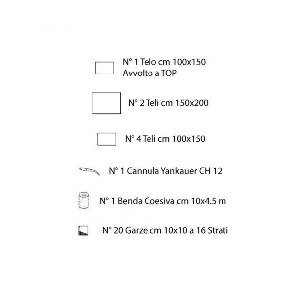 Custom Pack 1 Ortopedia 1 TNT Biaccoppiato Azzurro Sterile