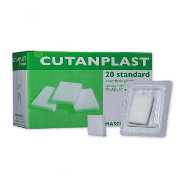 Spugna Emostatica Cutanplast Standard Riassorbibile 20 Pz. Misura 70x50x10 mm.