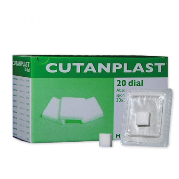 Spugna Emostatica Cutanplast Dial 20 Pz. Misura 30x30x10 mm.
