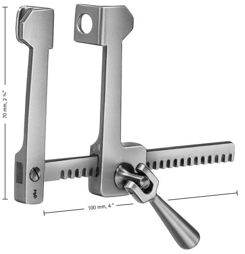 Divaricatore Toracico Finocchietto 70 x 100 mm - Valve 12x15 mm