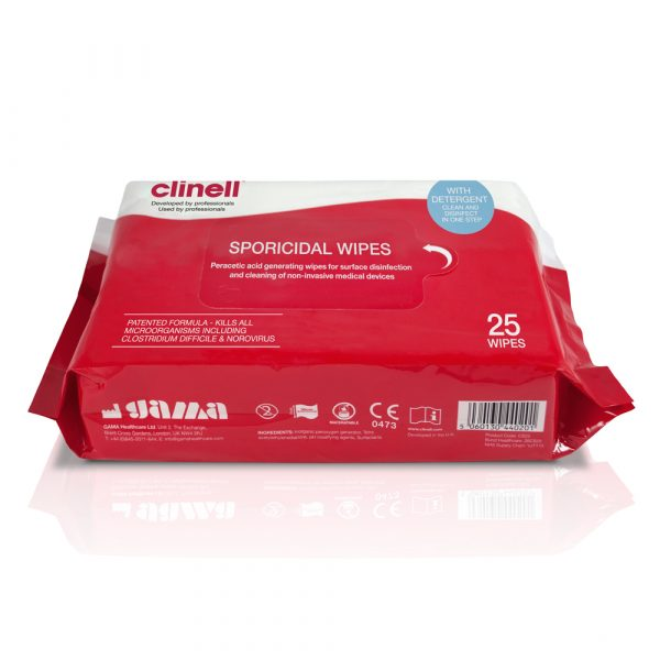 Clinell Sporicidal - 25 Wipes