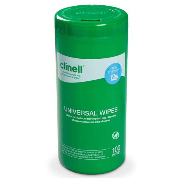 Clinell Universal Sanitising - Conf. 100 Wipes