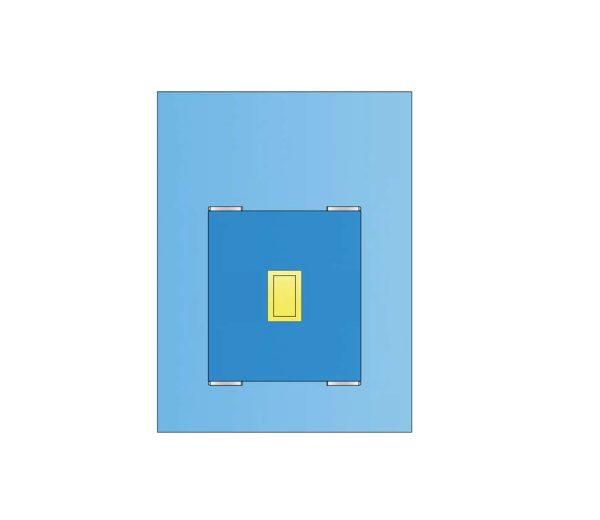 Telo Laparatomia Cane Medio 150 x 200 cm con Superassorbente in TNT Biaccoppiato - Sterile
