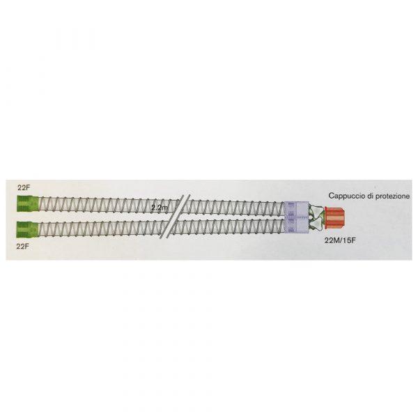 Circuito per Ventilazione Smoothbore 15 mm - Lungh. 2 m - PEDIATRICO